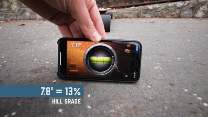 Hill Climb Test at 13% hillgrade