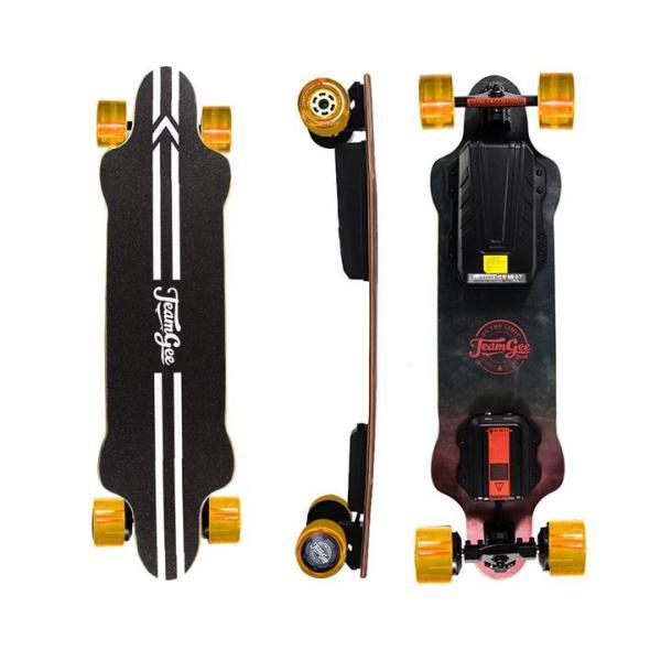 Teamgee H20 eboard with orange wheels