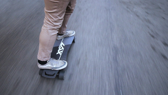 Riding the Laxboards Lax One Electric Skateboard