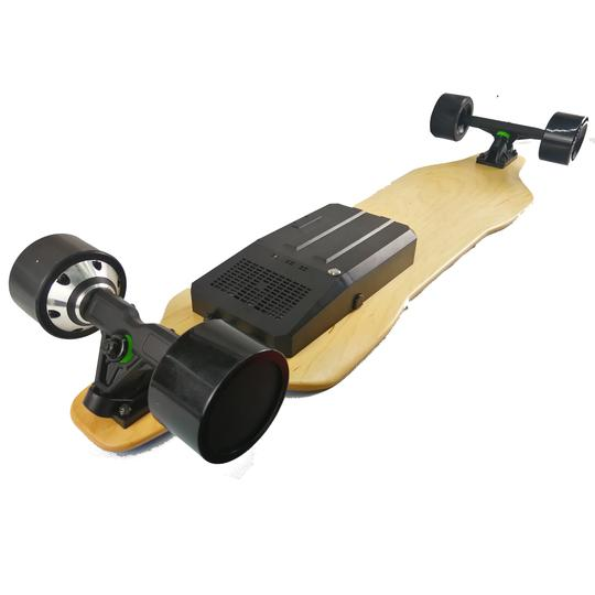 AEboard AF electric skateboard rear motors and enclosure
