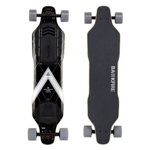 Backfire G3 electric skateboard top underneath