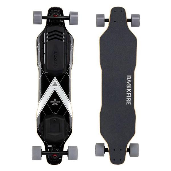 Backfire G3 electric skateboard top underneath
