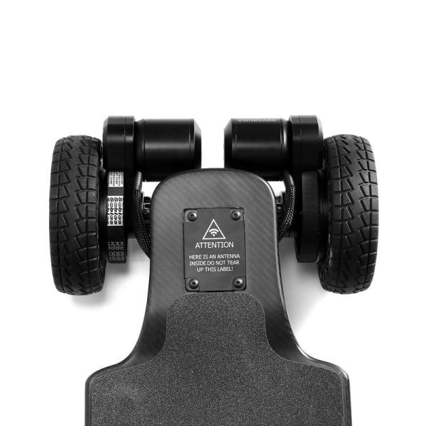 Ownboard Carbon AT electric skateboard rear wheels and belt-drives