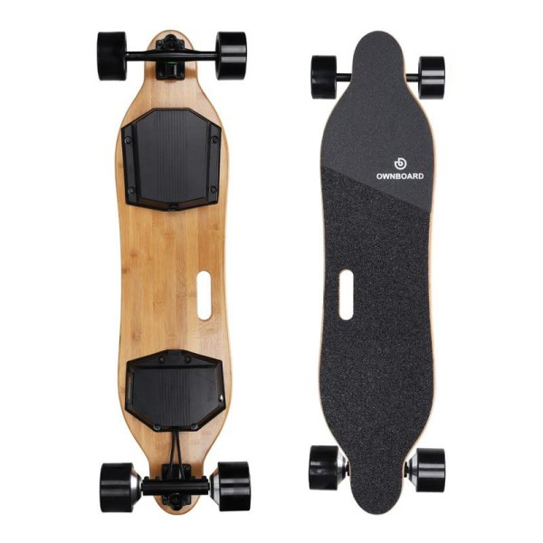 Ownboard W1S electric skateboard top and underneath deck