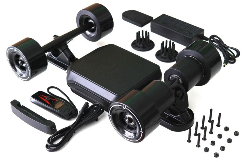 Revel Kit - Electric Skateboard Conversion Kit Contents