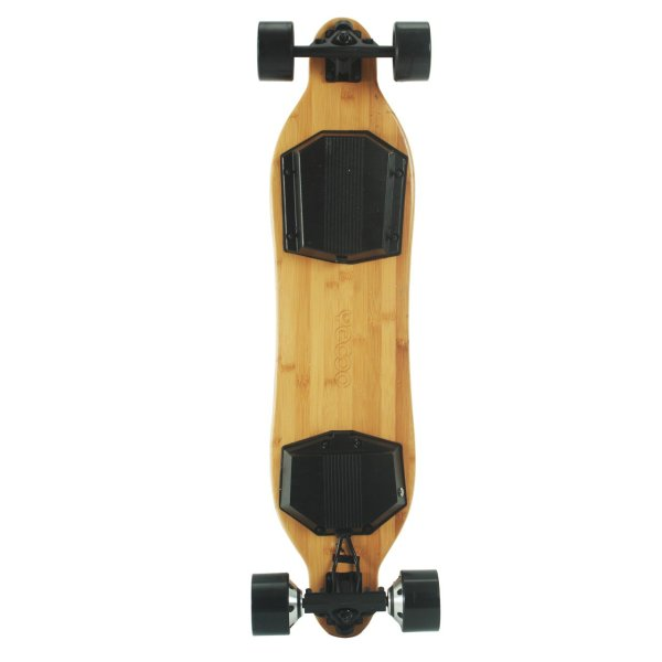 Yecoo X2 electric skateboard underneath deck
