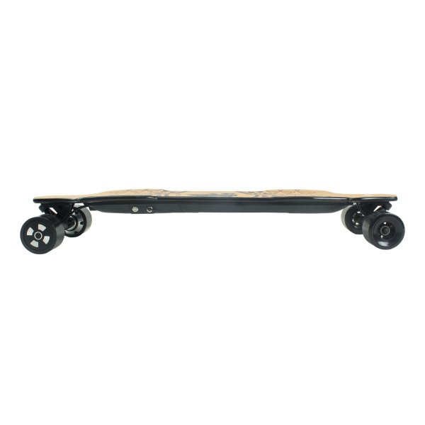 Yecoo XJ electric longboard side profile view