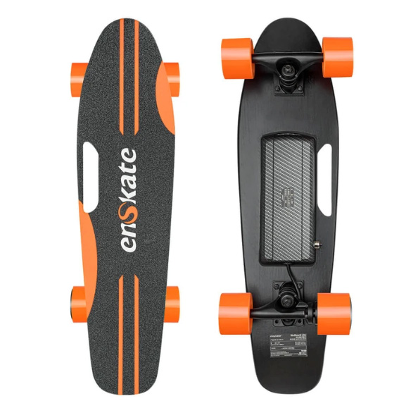 enSkate Woboard Lite electric skateboard top and underneath deck