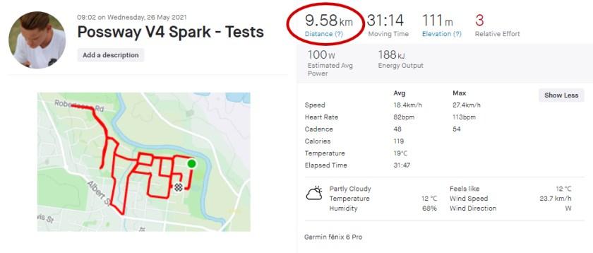 Range Test was 9.58km