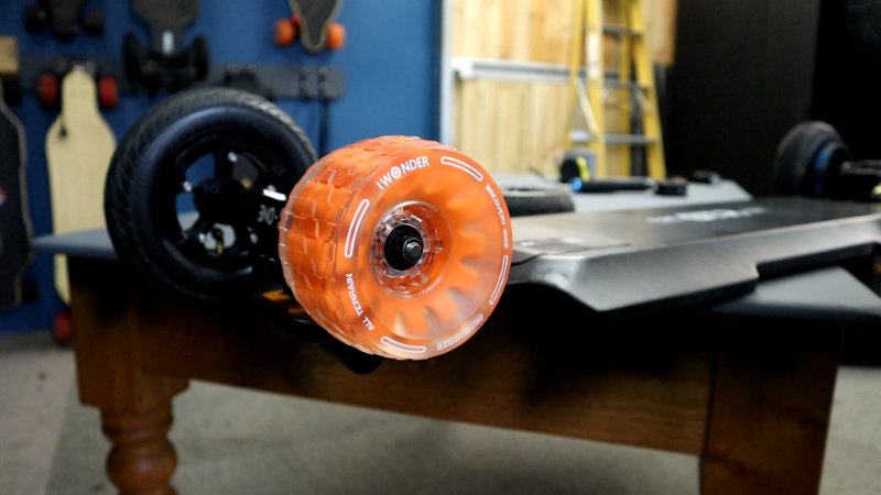 Orange Cloudwheels on the B-One Hercules