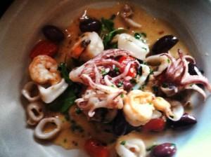 Shrimp and Calamari Bruschetta