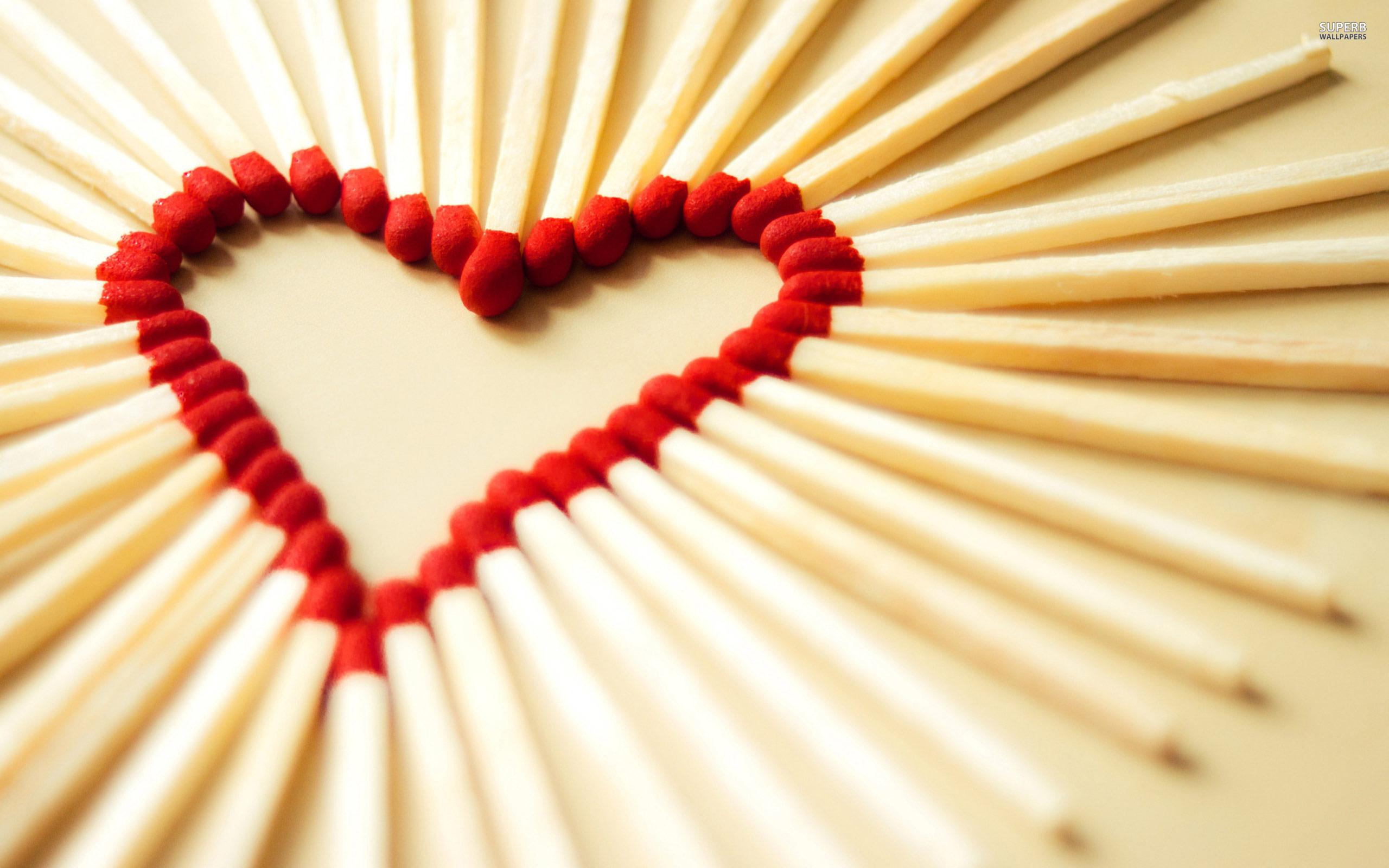 Matches Heart Wallpaper