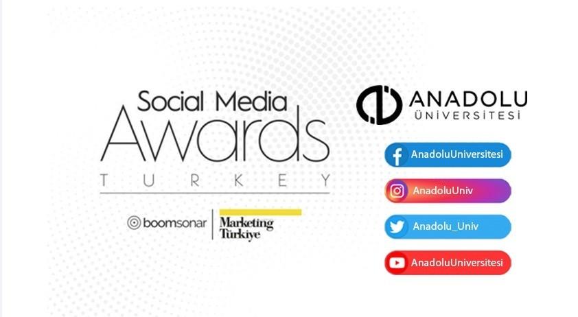 Social Media Awards Turkey 2020'de Anadolu Üniversitesi gümüş ödül kazandı