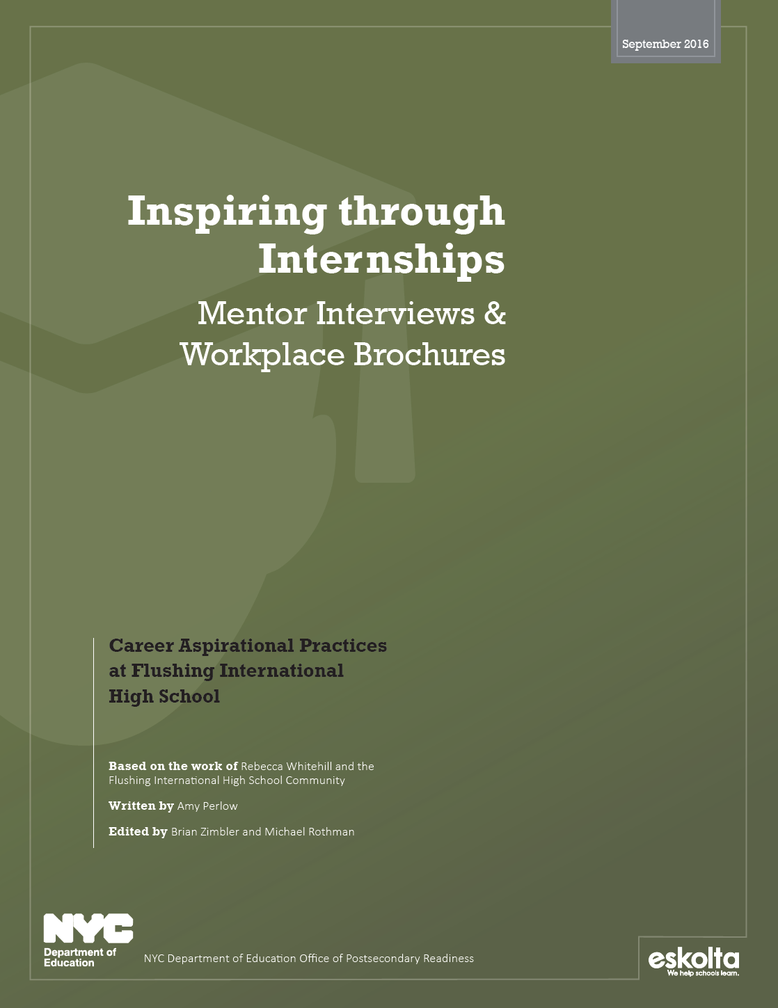 Inspiring Through Internships Mentor Interviews And Workplace Brochures