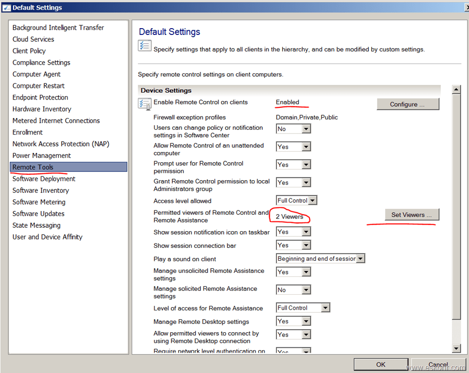 SCCM Configmgr 2012 Custom Client Device Settings What