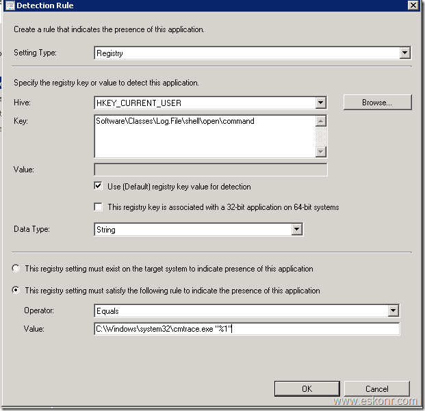 SCCM Configmgr 2012 How to make CMtrace tool as default log