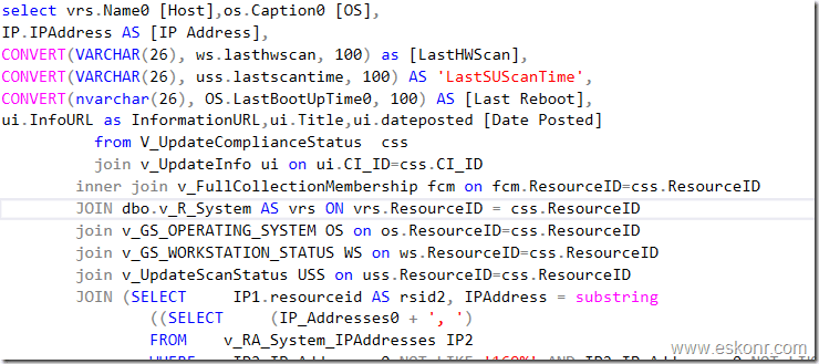 Configmgr SQL query to get the list of clients that require