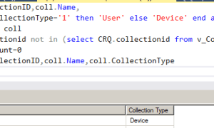 Configmgr Report list empty collections with no query rules defined (collection clean-up)