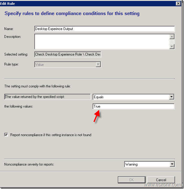 How to use Configmgr Baseline to check server role or