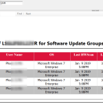 SCCM ConfigMgr Compliance status of client for multiple software update groups