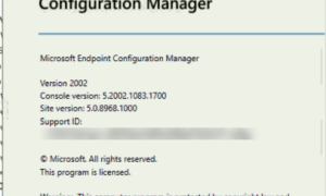 SCCM ConfigMgr Current Branch 2002 is available as in-console and baseline version