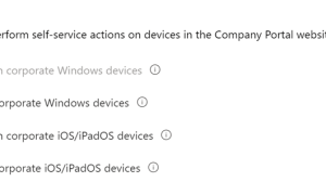 How to Customize self-service device actions in the Company Portal