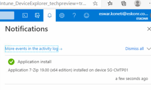Technical preview 2005 – Tenant attach Install application in real time from admin center
