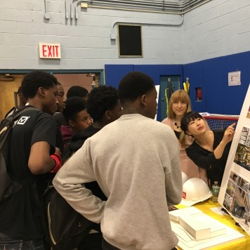 Students hear about some of the projects in our portfolio.