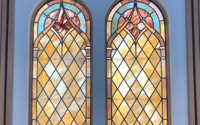 Salvaged Stained-Glass is a Design Highlight at the Baptist Church of the Redeemer