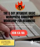 5-Day WordPress Workshop For Beginners – With Hands-On Training