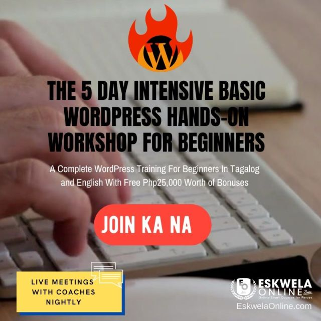 Copy of Copy of eskwelaonline ecourse wordpres