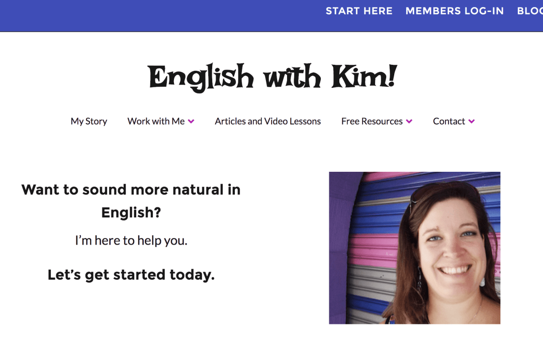 english with kim interview