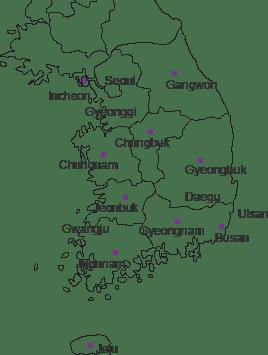 talk korea regions