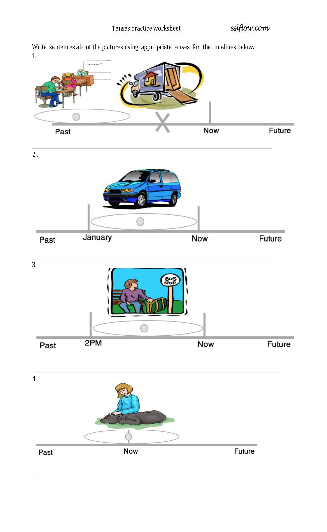 Grammar Time Lines With Pictures