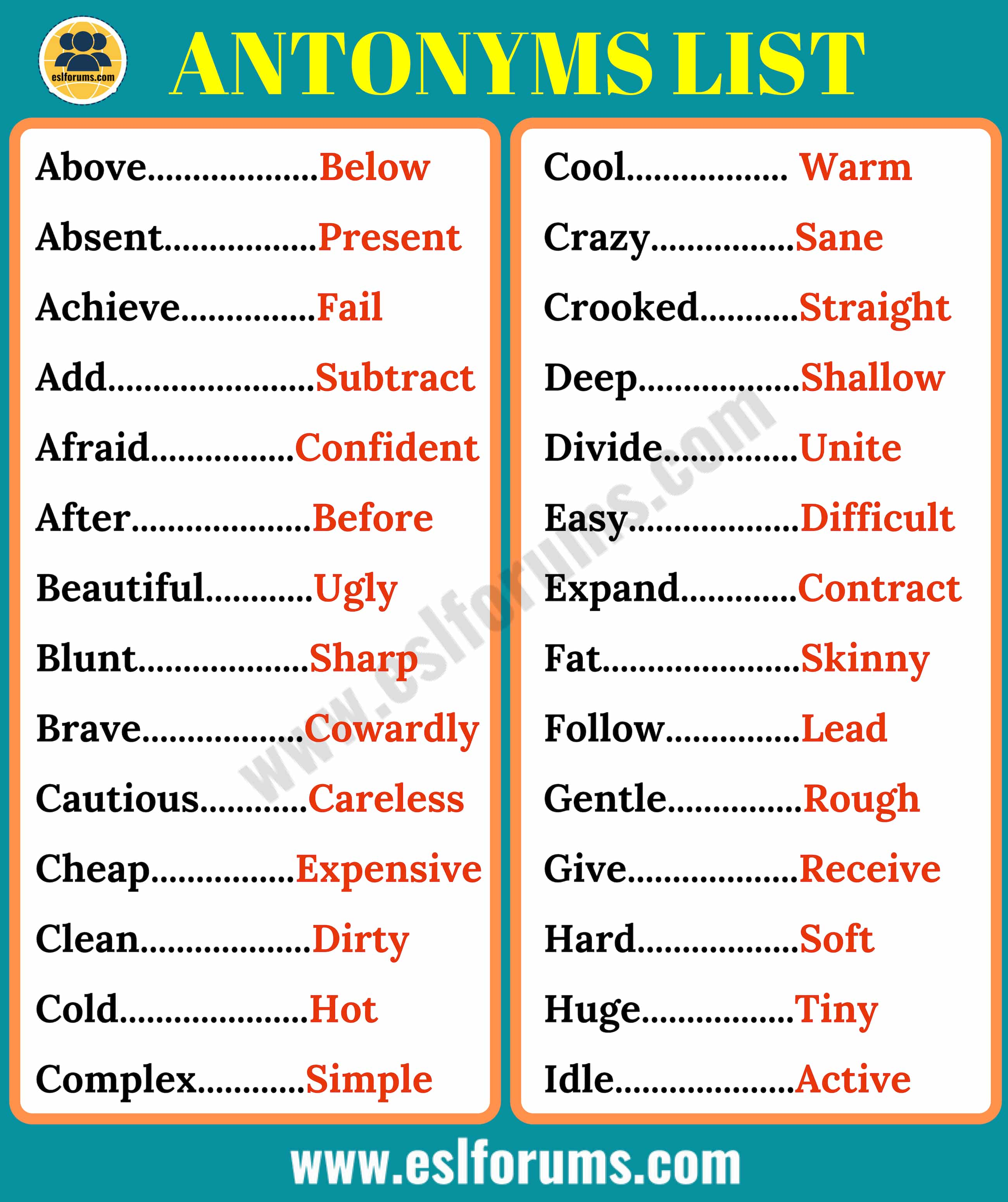 Printables Of Antonym For Include