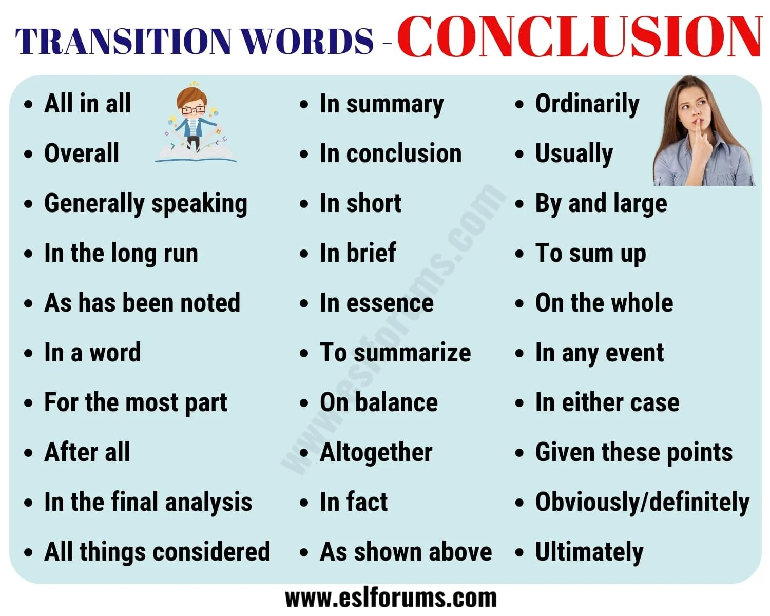 Conclusion Transition Words Useful List Amp Examples
