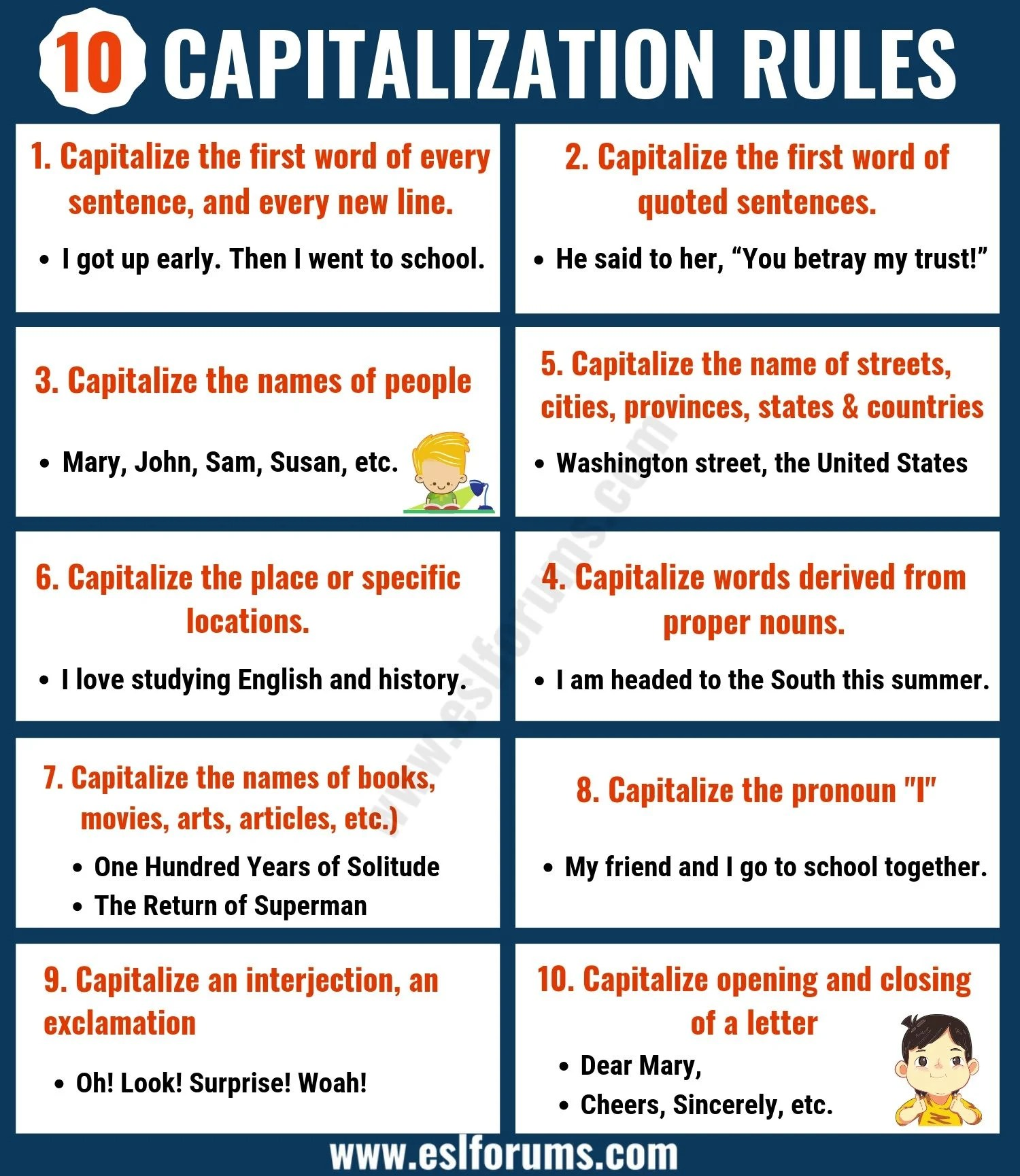 Capitalization Rules 10 Important Rules For
