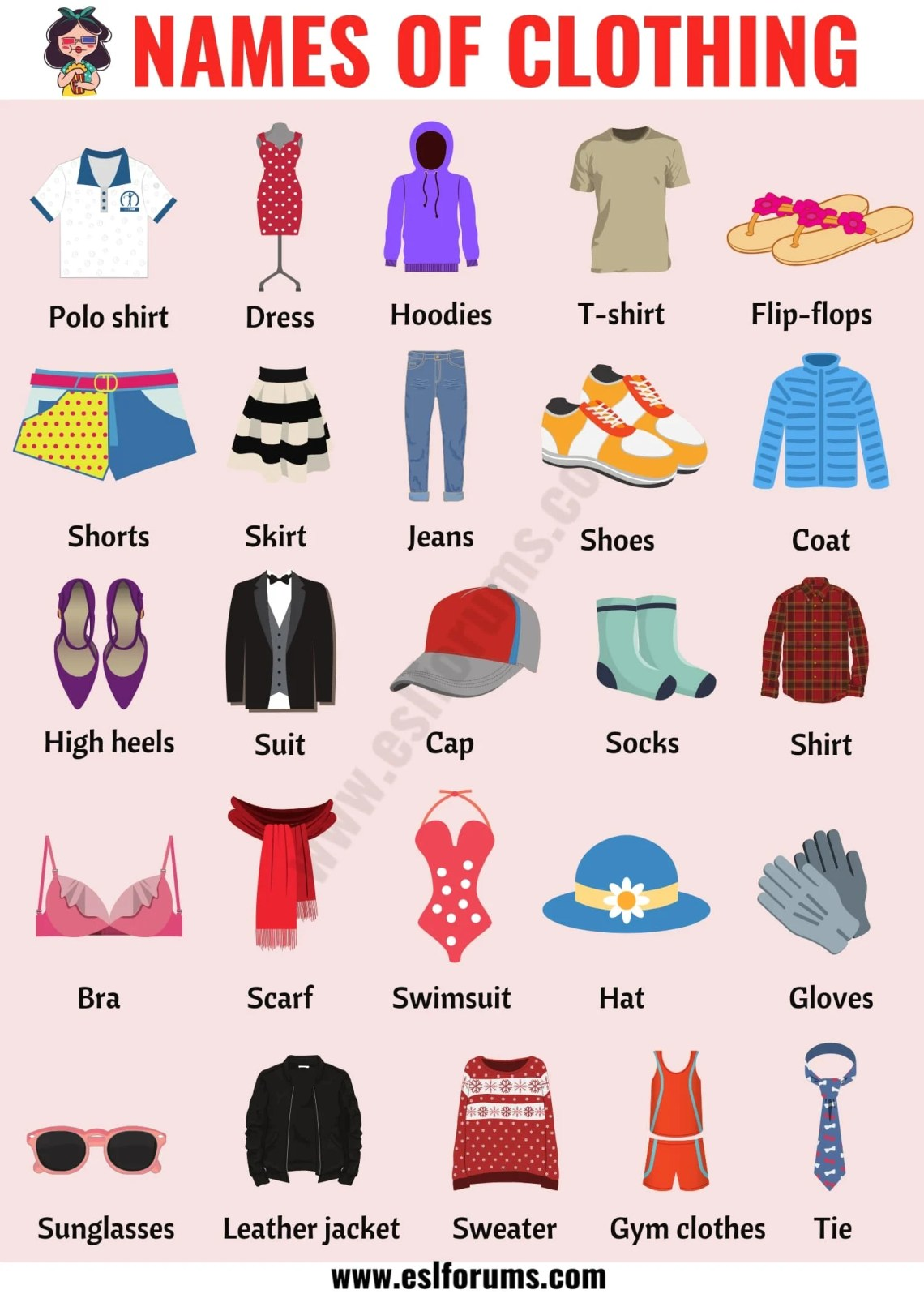 Types of Clothing: Useful List of Clothing Names with the ...
