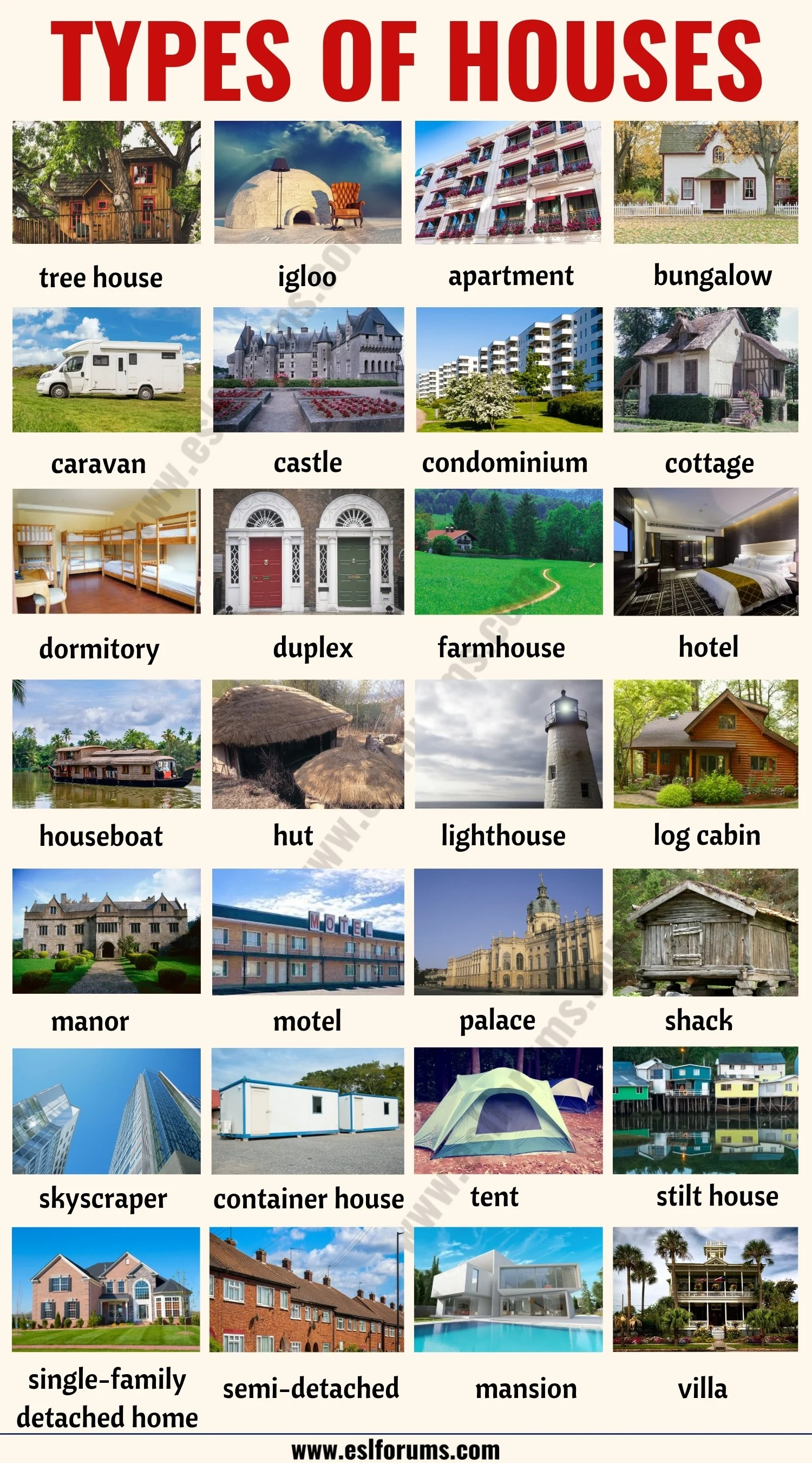 House Styles List Of 28 Different Types Of Houses Around