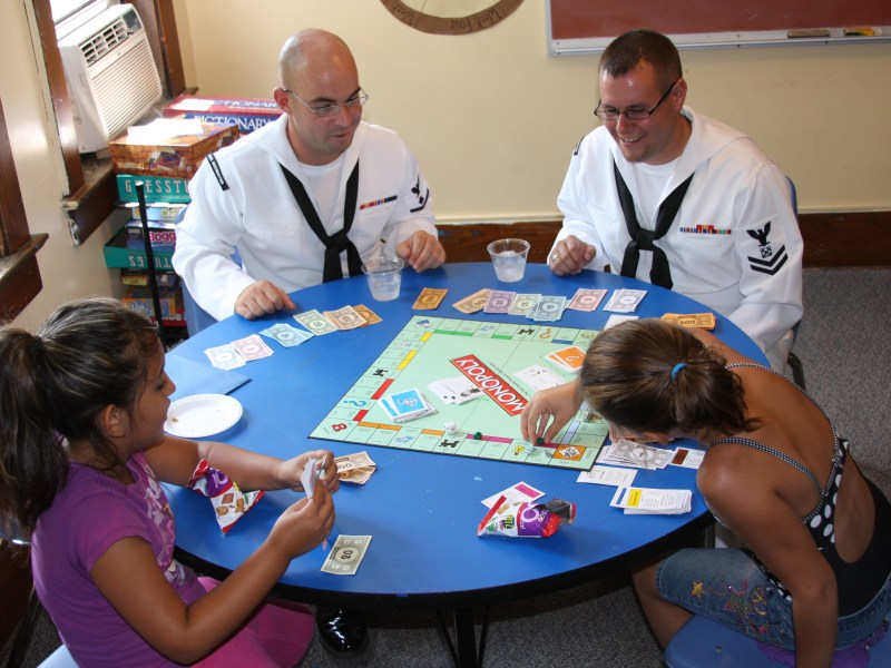 Sailors playing monopoly