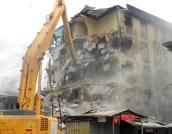 being demolished