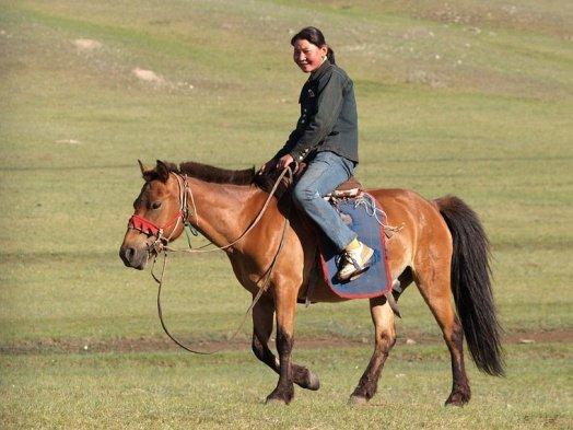 being ridden