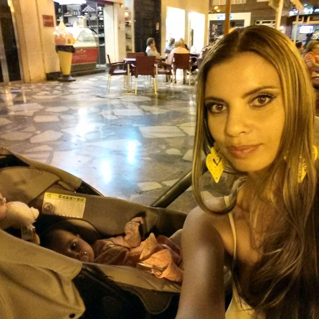 Elche Plaza de la Glorieta, me & my 6 month old baby