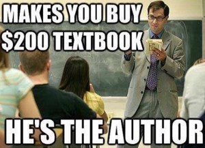 textbook expensive professor