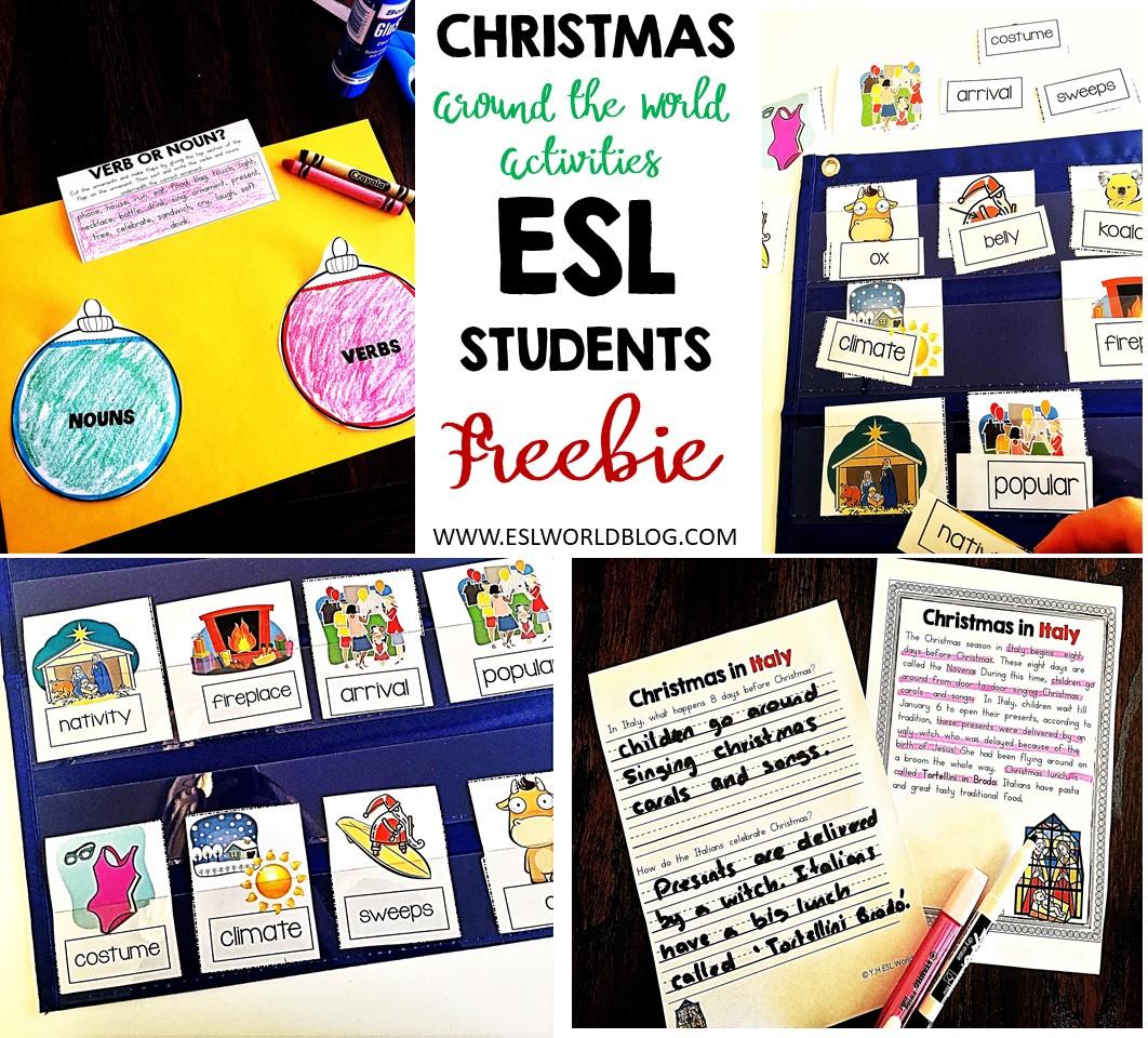 Christmas Around The World Esl Worksheets Free Esl World