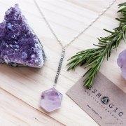 colgante plata gemas bienestar hexagano esmagic tienda online