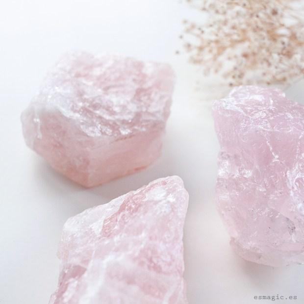 cuarzo rosa en bruto esmagic crystal shop