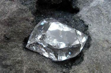 Cristal mineral Cuarzo Herkimer