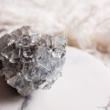 Fluorita Azul Esmagic Minerales y Cristales naturales