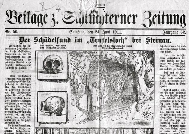 Un diario alemán se hace eco del hallazgo de la Cueva del Diablo, en 1911